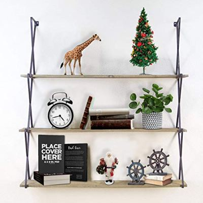 T-SIGN Floating Shelves Wall Mounted, 3-Tier Wall Shelves