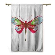 HCCJLCKS Printed Curtain Dragonfly Vivid Spring Time Inspired Moth