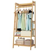 Homfa Bamboo Clothing Rack, Multifunctional Garment Stand for Clothes