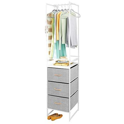 mDesign Modular Closet Organizer System Storage Unit