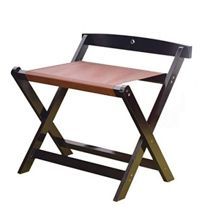 Solid Wood Luggage Racks are Durable and Foldable for Storage