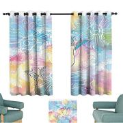 YOFUHOME Colorful Home Decor Light Luxury high-end Curtains