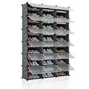 KOUSI Portable Shoe Rack Organizer 72 Pair Tower Shelf Storage Cabinet