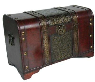 Styled Shopping Old Fashioned Wood Storage Trunk Wooden Treasure Chest