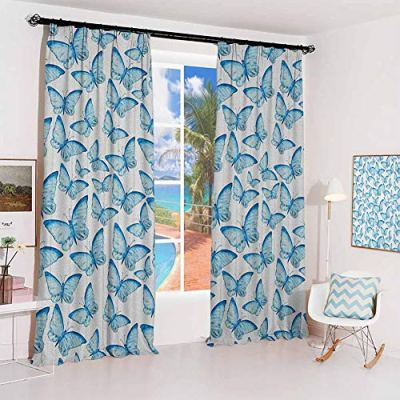 GUUVOR Butterfly Sun Protection Insulated Bedroom Living Room