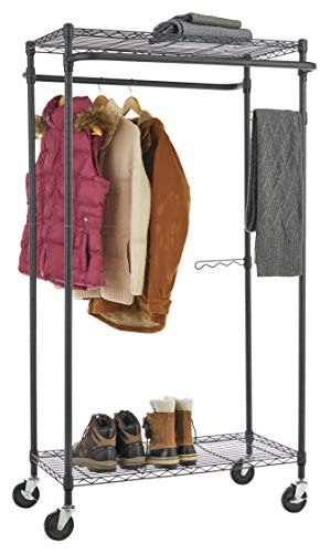 Type A Heavy-Duty Garment Rack | Portable Clothes Rack on Wheels