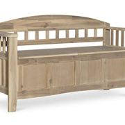Linon Bench, Natural Wash