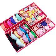 fannay 4PCS Underwear Organizer Storage Box Drawer Divider
