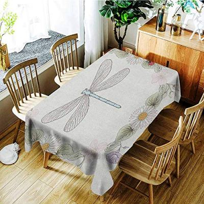 Dragonfly 3D Printed Long Tablecloth Vintage Retro Farm Life Inspired Moth