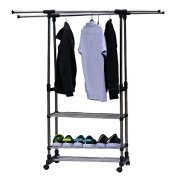 Icerom Heavy Duty Garment Rack Full Stainless Steel Adjustable