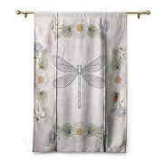 HCCJLCKS Decor Curtains Dragonfly Vintage Retro Farm Life Inspired Moth