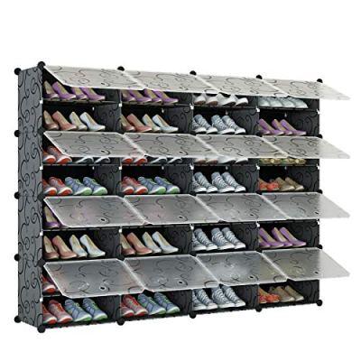 KOUSI Portable Shoe Rack Organizer 64 Pair Tower Shelf Storage