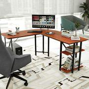 L Desk DEWEL Reversible L Shaped Desk Corner Computer Desk
