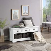 Storage Benches for Entryway with Drawers, WeYoung Homes Collection