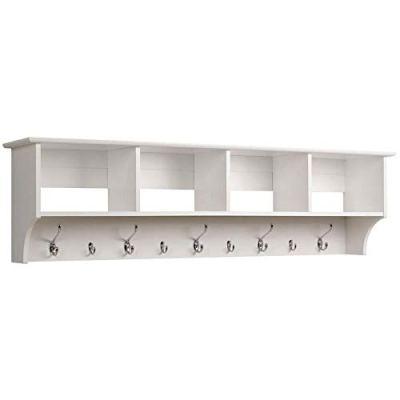 "Prepac 60"" Hanging Entryway Shelf, White"