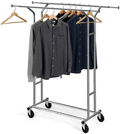 Bextsware Clothes Garment Rack, Commercial Grade Clothes Rolling Heavy Duty