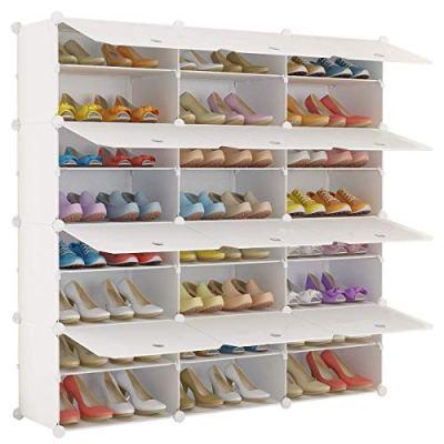 KOUSI Portable Shoe Rack Organizer 48 Pair Tower Shelf Storage Cabinet