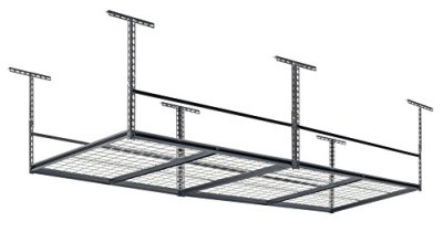 "Muscle Rack 96""W x 48""D Overhead Garage Adjustable Ceiling Storage Rack"