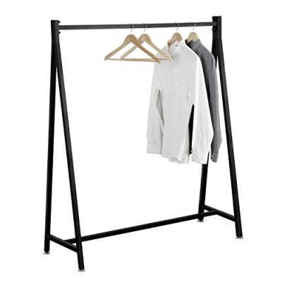 55-Inch Modern Black Heavy Duty Metal Commercial Garment Rack
