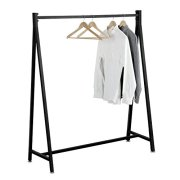 55-Inch Modern Black Heavy Duty Metal Commercial Garment Rack