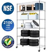Wire Shelving Unit NSF Heavy Duty Office Basement Kitchen Adjustable Metal
