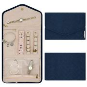 Buzzy B Travel Jewelry Organizer - Foldable Roll for Necklaces, Bracelets, Earrings - Portable and Compact Journey Storage Case.