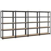 Yaheetech Black 5-Shelf Steel Shelving Unit Storage Rack Adjustable Garage Shelves