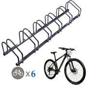 EasyGoProducts Floor Stationary Six Wheel Rack, Indoor - Outdoor Bike Stand