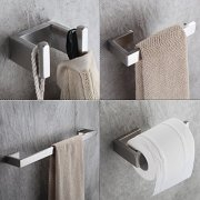Fapully Four Piece Bathroom Accessories Set Stainless Steel Wall Mounted