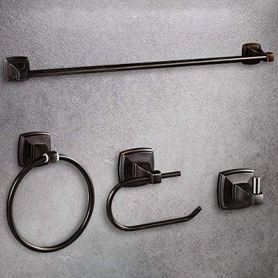 LUCKUP Oil Rubbed Bronze 4 Piece Bathroom Accessory Set, Towel Bar Accessory Set
