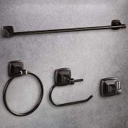 LUCKUP Oil Rubbed Bronze 4 Piece Bathroom Accessory Set, Towel Bar Accessory Set