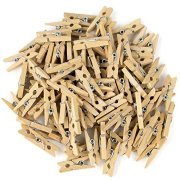 100-Pack Minipins   Miniature-Sized Rustic Wooden Clothespins for Scrapbooking, Crafts, Decoratng and Organizing