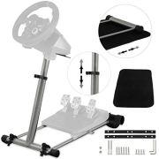 Happybuy Gaming Steering Wheel Stand 360 Degree Stepless Steering Wheel Stand