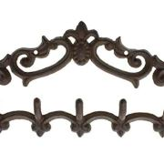 Comfify Cast Iron Wall Hanger - Vintage Design with 5 Hooks
