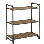 VASAGLE 3-Tier Storage Rack, Customizable Bathroom Kitchen Shelf