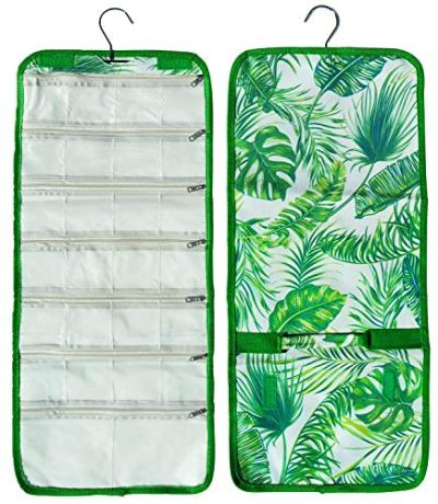 Best Prime Top Easter Gifts for Teens Gifts Ideas Under 20 Dollars Green Beach Palmtree Designer Craft Organizer Roll Hanging Travel Jewelry Roll Case Kit Basket Stuffers for Women Wife
