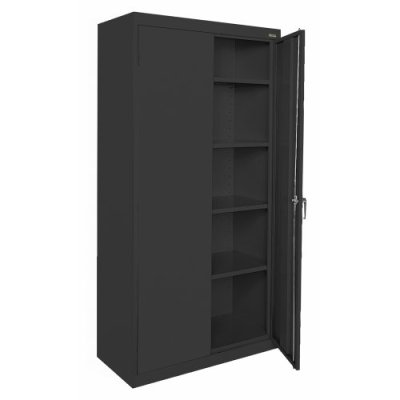 Sandusky Lee, Welded Steel Classic Storage Cabinet, 4 Adjustable Shelves
