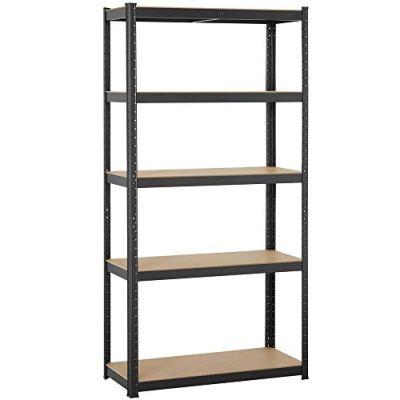 Yaheetech 5 Shelf, 35.4-inch by 15.7-inch by 71-inch Shelving Unit Garage Shelving