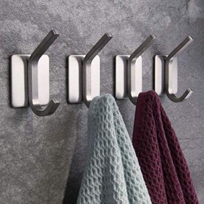 ZUNTO Towel Hook/Adhesive Hooks - Wall Hooks for Hanging Bathroom Stick