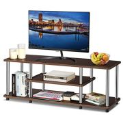 Tangkula 3-Tier TV Stand, LED and Flat Panel TV Entertainment TV Stand