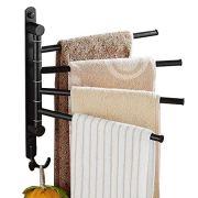 ELLO&ALLO Oil Rubbed Bronze Towel Bars for Bathroom Wall Mounted Swivel