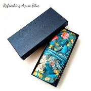 L&Z Jewelry Roll Bag | Travel Jewelry Roll | Jewelry Bag Organizer for Women (Refreshing Azure Blue)
