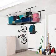 Fleximounts 2-piece 3x8 ft Overhead Garage Storage Rack Set Ceiling Storage Racks