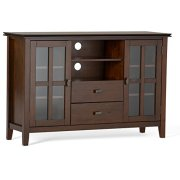 Simpli Home Artisan Solid Wood 53 inch Wide Contemporary TV Media Stand