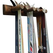6 Place Wall Ski Rack, Canyon Brown