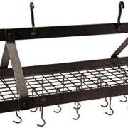 Enclume Premier 4-Foot Oval Ceiling Pot Rack, Hammered Steel