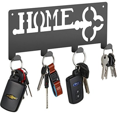 Decorative Wall Mounted Key Holder | Modern Key Holder with 4 Hooks