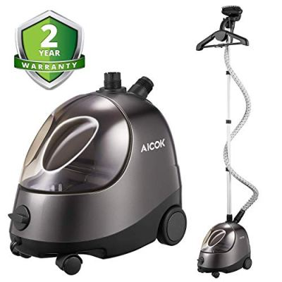 AICOK Steamer for Clothes, Large Transparent Water Tank, Drain Design