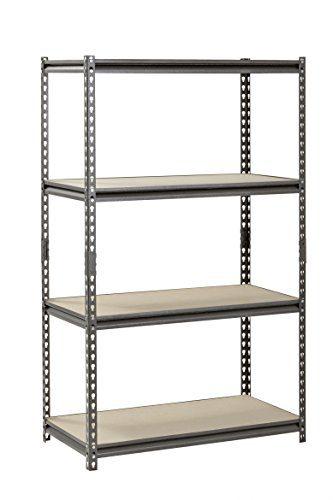 Muscle Rack Silver Vein Steel Storage Rack, 4 Adjustable Shelves