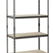 Muscle Rack Silver Vein Steel Storage Rack, 4 Adjustable Shelves